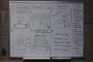 Storyboard paneling on whiteboard